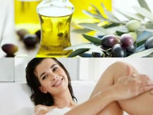 Tắm trắng bằng dầu oliu
