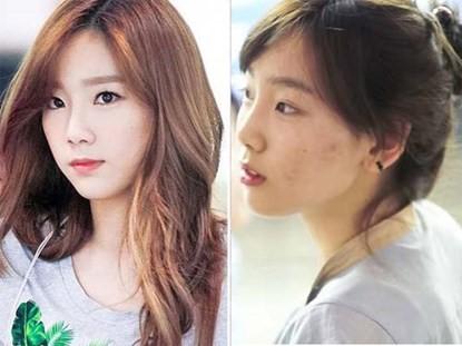 Bất ngờ về gương mặt mộc của sao Hàn