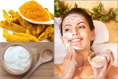 Mặt nạ sữa chua, bột nghệ có tác dụng trị mụn hiệu quả