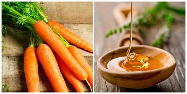 Cà rốt và mật ong đều là những nguyên liệu lành tính và có tác dụng trị mụn rất tốt