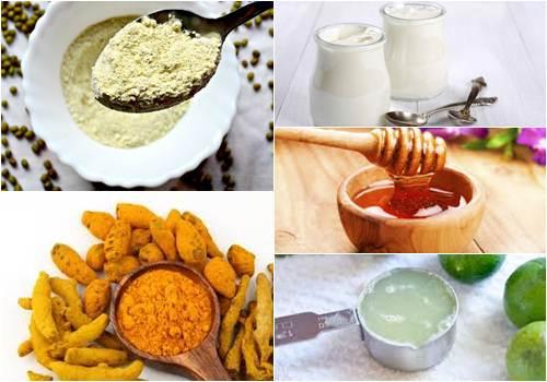 Hồn hợp bột nghệ, mật ong và chanh phù hợp cho làn da sỉn màu