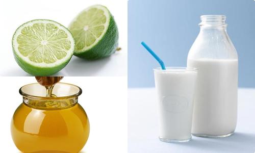 Sữa tươi không đường, chanh và mật ong là những thành phần có khả năng bổ trợ cho nhau giúp bạn sở hữu làn da trắng sáng nhanh chóng