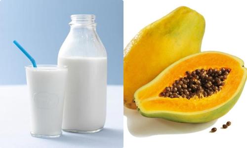 Hỗn hợp sữa tươi, đu đủ và mật ong có tác dụng giúp da mềm mịn, sáng hồng và tươi trẻ hơn