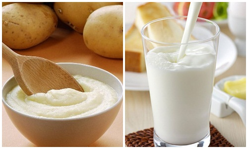 Sữa tươi kết hợp với khoai tây là bí quyết tắm trắng được nhiều mỹ nhân từ xa xưa cho đến hiện tại tin dùng để chăm sóc cho làn da