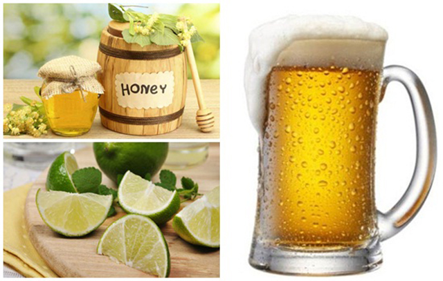 Hỗn hợp bia, nước cốt chanh và mật ong không chỉ giúp trị mụn, xóa thâm mà còn giúp dưỡng da hiệu quả