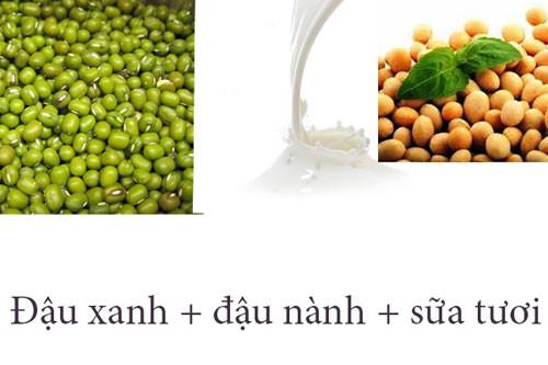 Bột đậu xanh, đậu nành và sữa tươi có khả năng giúp bật tông da nhanh chóng