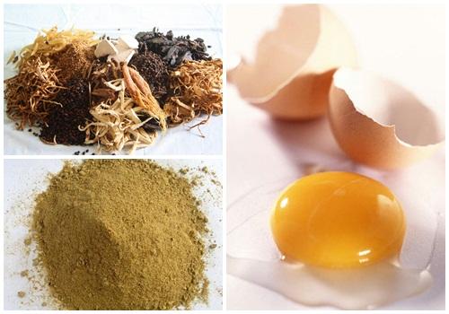 Công thức trứng gà và thuốc bắc có khả năng xóa nếp nhăn và làm trắng da rất tốt