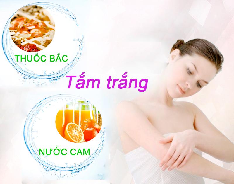 Cách tắm trắng bằng thuốc bắc và nước cam giúp cải thiện sắc tốt da nhanh chóng