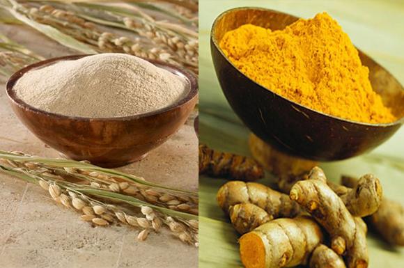 Khi kết hợp bột nghệ cùng với cám gạo sẽ tạo thành một giải pháp chăm sóc da tuyệt vời, khiến làn da bạn trắng sáng hơn hẳn