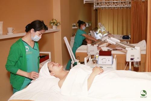 Phương pháp chăm sóc da tại Thu Cúc Clinics được tiến hành theo đúng các bước