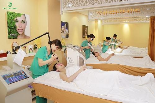 Khách hàng có thể trải nghiệm rất nhiều dịch vụ làm đẹp khi đến với Thu Cúc Clincis