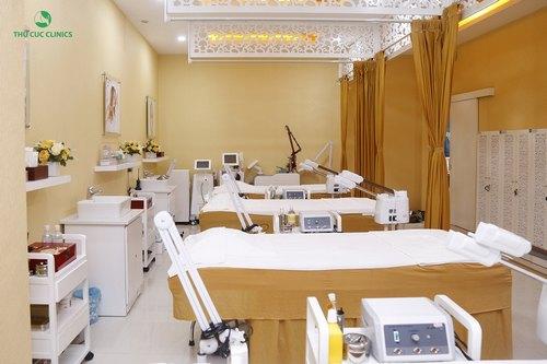 Hệ thống máy móc và trang thiết bị hiện đại được sử dụng tại Thu Cúc Clinics.