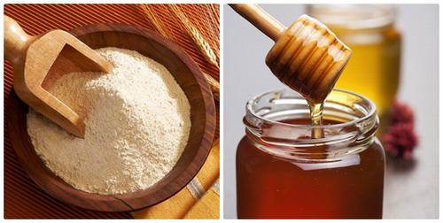 Tắm trắng an toàn bằng cám gạo và mật ong.