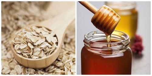 Tắm trắng an toàn bằng yến mạch và mật ong.