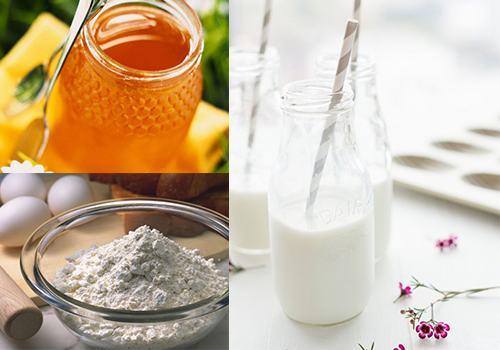 Làm trắng da đơn giản ngay tại nhà từ bột mì và sữa tươi.
