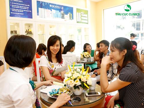 Các chương trình ưu đãi về trị mụn luôn thu hút sự quan tâm của đông đảo khách hàng, giúp Thu Cúc Clinics trở thành một trong số những địa chỉ được yêu thích nhất trong số các spa trị mụn uy tín TpHCM.