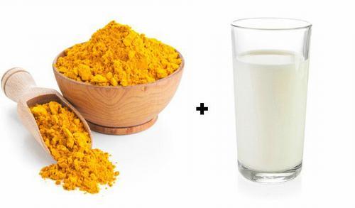 Phương pháp làm đẹp từ sữa tươi và bột nghệ.