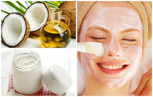 Mặt nạ sữa chua + dầu dừa có tác dụng dưỡng da trắng mịn, hồng hào và khỏe mạnh, không còn bị mụn tấn công.