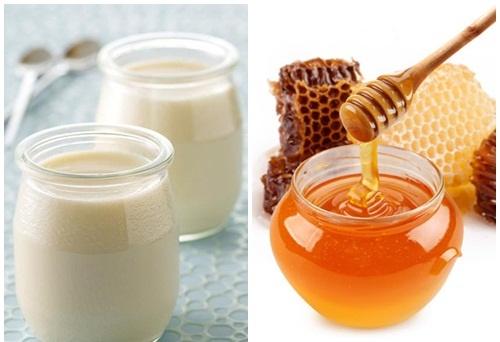Công thức tắm trắng bằng mật ong và sữa chua.