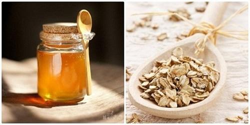 Công thức tắm trắng bằng mật ong và bột yến mạch.