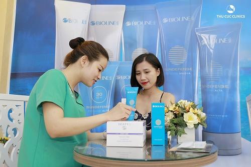 Thu Cúc Clinics áp dụng công nghệ tắm trắng hiệu quả và an toàn.