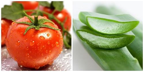 Tắm trắng bằng cà chua và nha đam được rất nhiều chị em yêu thích.