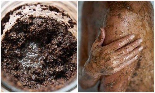 Tẩy da chết bằng bã cà phê là giải pháp hỗ trợ điều trị mụn lưng hiệu quả.