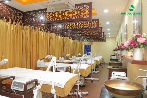 Không gian làm đẹp tại Thu Cúc Clinics sang trọng đẳng cấp đầy đủ tiện nghi
