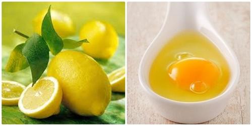 Mặt nạ lòng trắng trứng và chanh là nguyên liệu tự nhiên giúp loại bỏ tế bào chết trên da nhanh chóng.