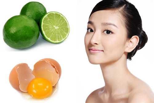 Kết hợp giữa chanh và lòng trắng trứng gà để trị mụn trên mặt