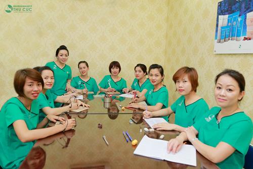 Chương trình đào tạo tại Thu Cúc với khóa học bài bản quy mô nhỏ.