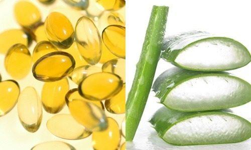 Trộn đều nha đam với vitamin E để tạo thành hỗn hợp rồi đắp lên mặt