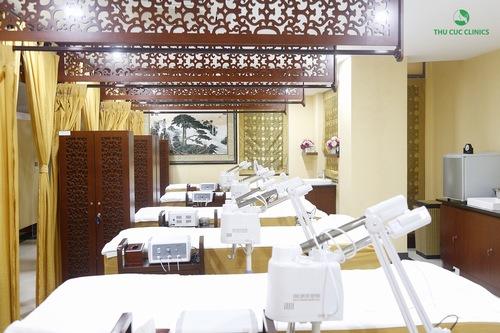 Không gian làm đẹp tại Thu Cúc Clinics được thiết kế sang trọng đẳng cấp