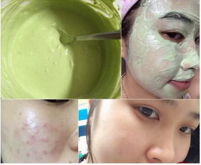 Kiên trì sử dụng trà xanh để làm mặt nạ thoa lên da mặt