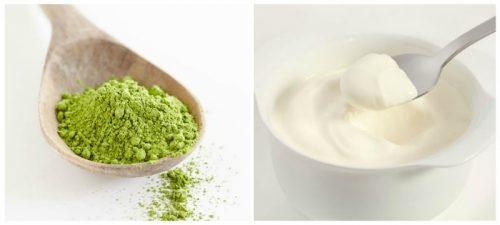 Kiên trì sử dụng mặt nạ sữa chua kết hợp với bột trà xanh để thoa đều lên mặt. Để yên trong vofbng 30 phút rồi sau đó rửa sạch lại da mặt lại bằng nước lạnh.