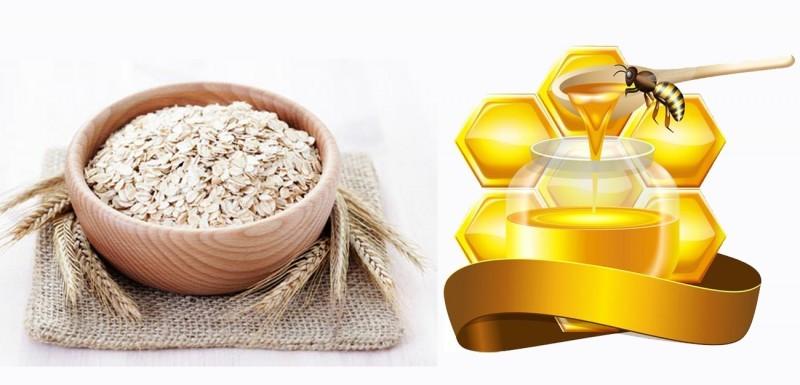 Đừng quên bỏ qua mật ong và yến mạch để hỗ trợ loại bỏ mụn đầu đen, giúp làn da trở nên sáng mịn, đều màu