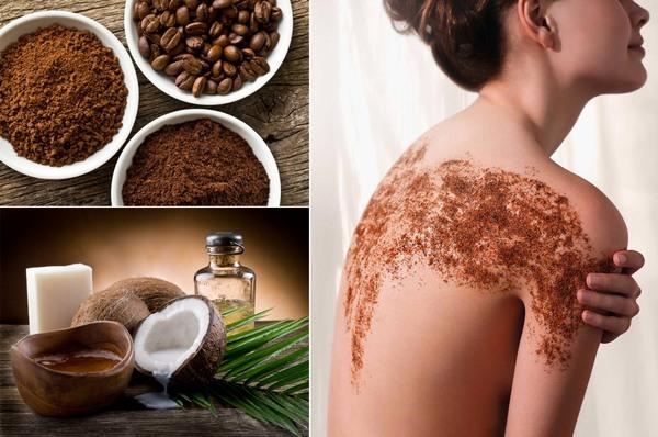 Cả bã cà phê và dầu dừa đều chứa hàm lượng cao chất chống oxy hóa, khoáng chất, dưỡng chất giúp tẩy tế bào chết tự nhiên để da mềm mịn hơn.