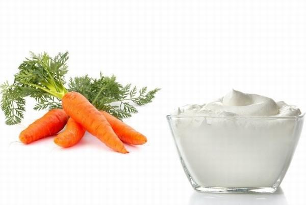 Kết hợp cà rốt với sữa chua bạn sẽ có công thức làm da trắng hồng tự nhiên, rạng ngời sức sống.