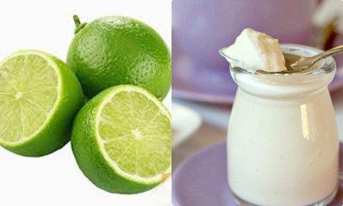 Kết hợp giữa chanh và sữa chua sẽ cung cấp dưỡng chất, giúp vùng da bị mụn sạch mụn chỉ sau thời gian ngắn