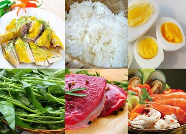 Sau khi phun môi nên kiêng 1 số thực phẩm như trứng gà, rau muống, thịt bò, xôi...