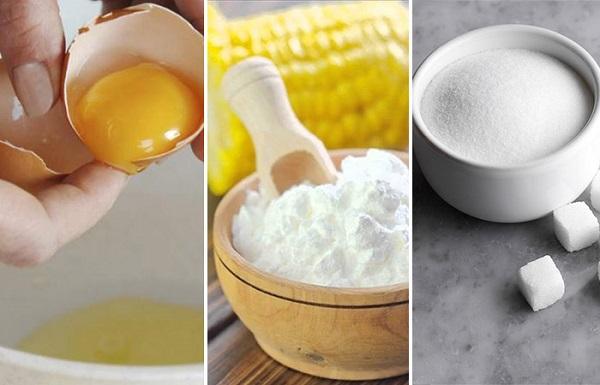Cách tẩy lông nách tại nhà bằng mặt nạ lòng trắng trứng, bột ngô và đường khá hiệu quả