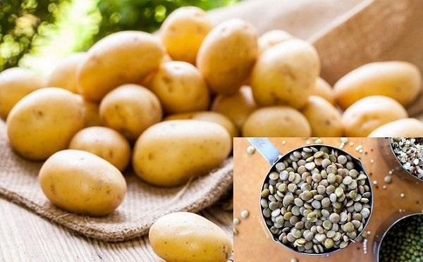 Khoai tây và đậu lăng giúp lông rụng dần
