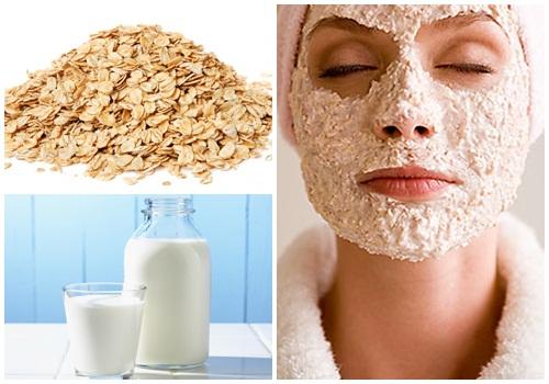 Kết hợp bột yến mạch cùng sữa tươi sẽ tăng khả năng dưỡng trắng da
