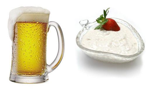 Bia và sữa chua giúp trị mụn, làm mờ vết thâm và dưỡng da rất tốt