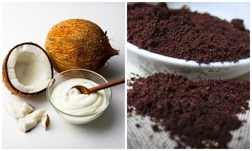 Hỗn hợp cà phê và dầu dừa giúp loại bỏ các đốm sắc tố, mang lại làn da trắng mịn hơn