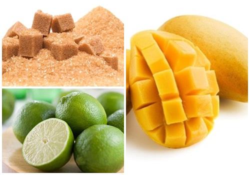 Cung cấp lượng vitamin và khoáng chất phong phú giúp da tươi trẻ lâu dài là một trong những công dụng nổi bật của hỗn hợp xoài, đường và chanh