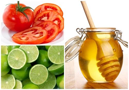 Công thức tắm trắng mật ong, chanh và cà chua có thể sử dụng tắm trắng cho mọi loại da