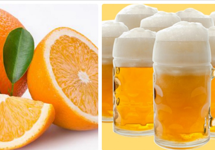 Sử dụng hỗ hợp bia và nước cam đều đắnẽ giúp cải thiện làn da ngăm đen nhanh chóng