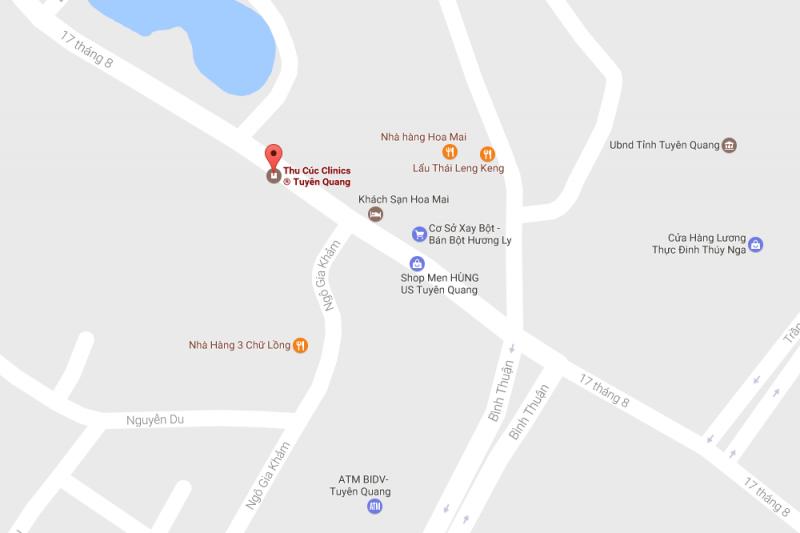Cơ sở thứ 17: Thu Cúc Clinic Tuyên Quang