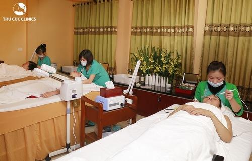 Chăm sóc da mặt chuyên nghiệp tại Thu Cúc Clinic Bắc Giang.